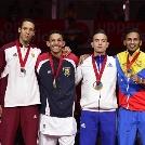 A második helyen végzett Tadissi Martial a Linzben megrendezett karate világbajnokságon
