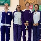 Ezüstérmes női tőrcsapatunk a Magyar Kupán
