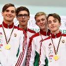 Kaiser Balázs aranyérmet nyert a kadet Eb zárónapján csapatban!