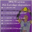 NŐI EXTRALIGA MENETREND 2021-2022